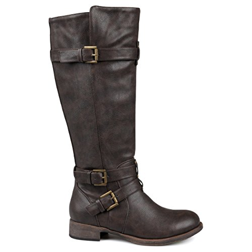 Brinley Co Women's Buffalo Boot, Brown, 7 Regular US - Tall Brown Suede Boots