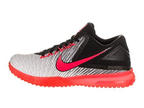 Nike Nike Zoom Trout 3 Rasen Herren Baseball-Schuhe 844628 Schwarz / Hell Crimson / Weiß