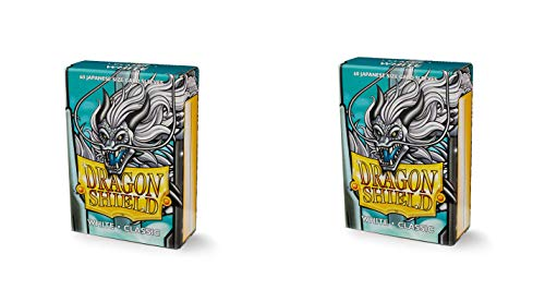(2 Packs Dragon Shield Classic Mini Japanese White 60 ct Card Sleeves Value Bundle!)