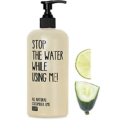 All Natural Cucumber Lime Soap 200 ml, 100% biodegradables, hecha ...
