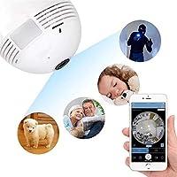 Lampada Espiã Câmera Ip 360° Hd Led Wifi 3g Grava Alarm -