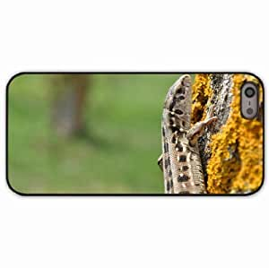Case For Sam Sung Note 2 Cover Black Hardshell Case lizard moss tree Desin Images Protector Back Cover