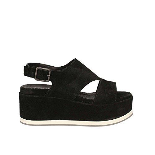 Women Black 660190 Maritan Wedge Sandals Y1qvYaAxwF
