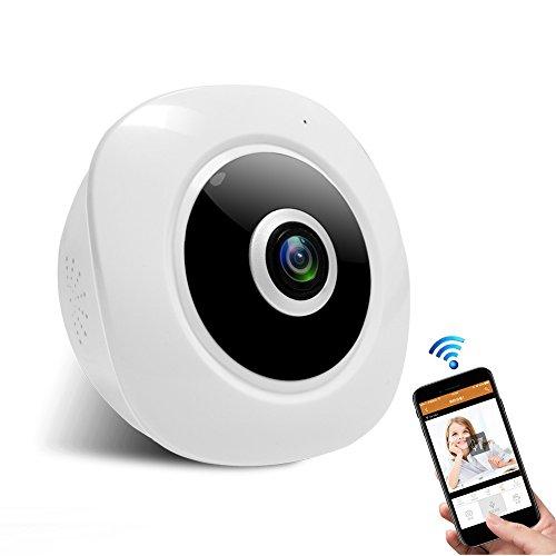 Security Dome Camera, 360° WiFi 3MP Wireless Surveillance System 1080p HD Panoramic Night Vision IP Camera
