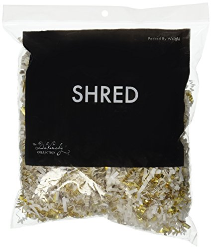 Mayflower Distributing Company SFP-31 Shred/Gold Foil Mix, 2 oz, White