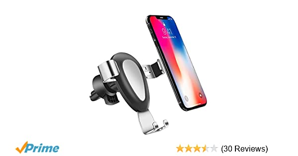 Black Air Vent Mount Holder,All Round Grip Universal Air Vent Car Mount Phone Holder for iPhone Xs Max R 8 Plus 7 6s SE Samsung Galaxy S9 S8 Edge S7 S6 Note 9 /& Other Smartphone
