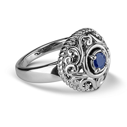 (Carolyn Pollack Sterling Silver Sapphire September Birthstone Ring - Size 07)