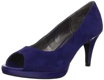 Amazon.com   Bandolino Women's Mylah Peep-Toe Pump, Blue ...