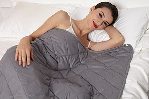 Weighted Blanket 2.0 by Hypnoser for Child and Adults,Dark Grey,48''x72'' 12 Lbs,Dark Grey by Hypnoser