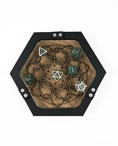 C4Labs Mini Personal Size Gaming Celtic Knot Design Dice Tray ~ -