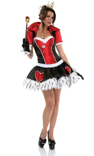 Forplay Women's Off With Her Head, Red/Black/White, (Naughty Alice In Wonderland Costumes)