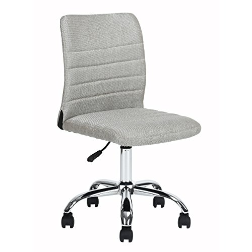 Ihouse Swivel Adjustable Ergonomic Mesh Computer Office Desk Midback Home Task Chair with Armrest (Grey) by Ihouse