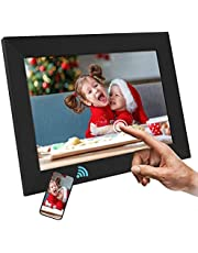 AILRINNI Digital Photo Frame Wifi - 10.1 inch Smart Cloud Digital Picture Frame with FHD IPS Touch Screen, Automatic Rotation Function, Share Your Photos and Videos Via Free App at Anytime and Anywhere