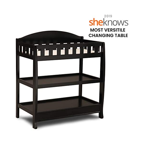 Delta Children Infant Changing Table with Pad, Black