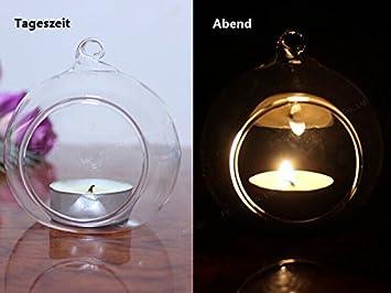 Teelichthalter kerzenleuchter aus glas windlichtaufsatz