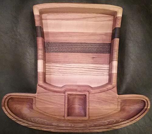 Custom Wood Irish Top Hat Serving Platter/Snack Tray