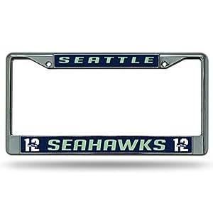 Amazon Com Seattle Seahawks 12th Man Lbl Metal Chrome