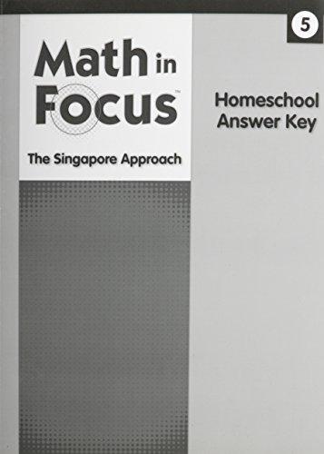 Math in Focus: Singapore Math: Homeschool Answer Key Grade 5