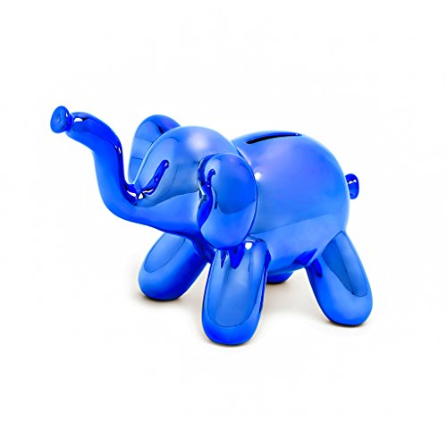 Made By Humans Balloon Money Bank - Baby Elephant - Unique Piggy Bank Gift for Cool Kids and Adults - Blue by Made By Humans (Image #3)
