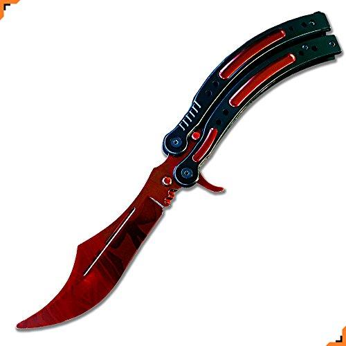 Advanced CSGO practice knife, No Edge, Unsharpened Blade, Rounded off Tip, 3rd Gen. Knivesmatter (Slaughter) by Knivesmatter