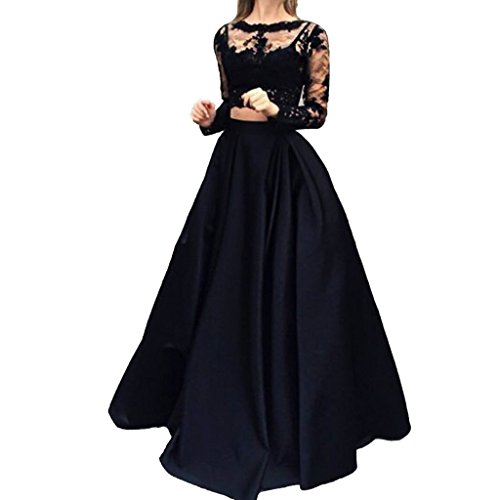 Buy long black lace dress next - 9