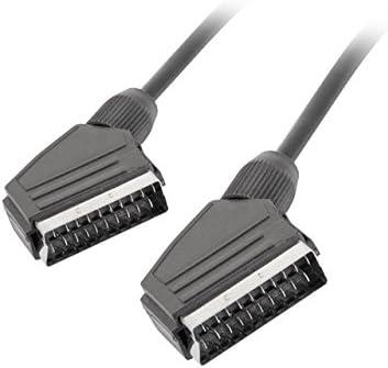 lanberg CA de eueu de 10cc de 0030de BK Euroconector SCART Cable de Audio y vídeo, 3m, Color Negro