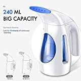 Hilife Steamer for Clothes Steamer, Handheld Garment Steamer Clothing, Mini Travel Steamer Fabric Steam Iron 240ml Big Capacity [Upgraded Version]