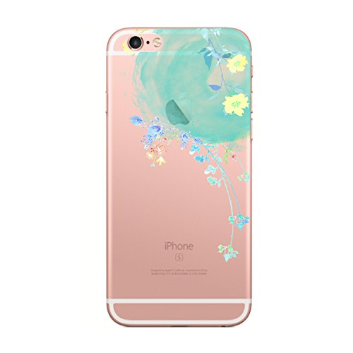 Price comparison product image Beryerbi iPhone 6 6sCase Flower Series Soft TPU Slim-Fit Shock-Absorption Cover For Apple 6 6s (9, iPhone 6 6s)