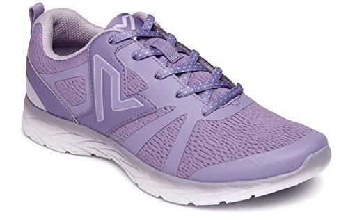 Vionic Women's Brisk Miles Lace-up Active Sneaker - Ladies Walking Sneakers with Concealed Orthotic Arch Support Lavender 8.5 W US