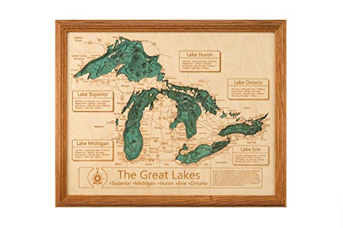 Long Lake Lifestyle Cedar Creek Reservoir - Franklin County - AL - 3D Map 16 x 20 in (Honey Oak Frame) - Laser Carved Wood Nautical Chart and Topographic Depth ()