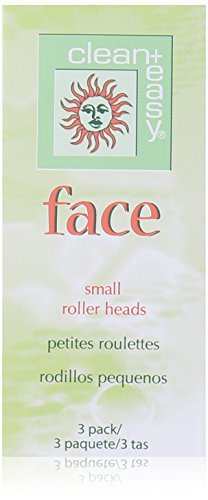 Clean Plus Easy Small Face Roller Head, 3 Count