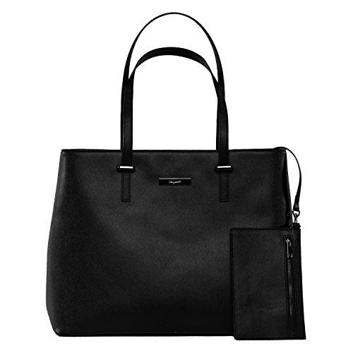 tragwert. Bolso de mano shopper bag LENA en negro - Bolso de mujer bandolera bolso de hombro Negro