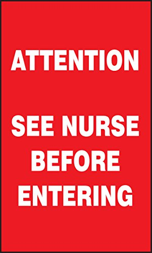 Accuform Signs MGS140 Magnetic Vinyl Patient Care Sign, Legend ATTENTION SEE NURSE BEFORE ENTERING, 5