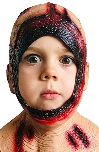 Rubber Johnnies Mascara para ninos con capucha podrida, latex, mascara de Halloween, Jason, mascaras de terror, disfraces de carnaval, viernes, fiesta, asesino