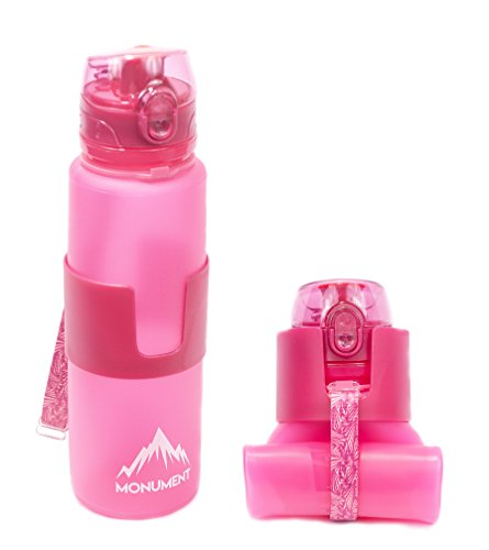 Monument Collapsible Water Bottle (Pink)