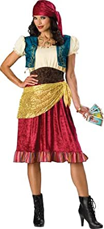 InCharacter Costumes, LLC Women's Gypsy Costume, Red/Gold/Brown, Small