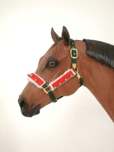 Horse Pony Holidayクリスマスサンタホルターネックフリースカバーwith Jingle Bells