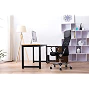 Furniture High-Back Swivel Mesh/PVC Seat Computer Swivel Lumbar Support Executive Office Chair with Seat Height...
