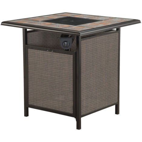 WESTBROOK SQUARE TILE TOP GAS FIREPIT - Shopping Westbrook