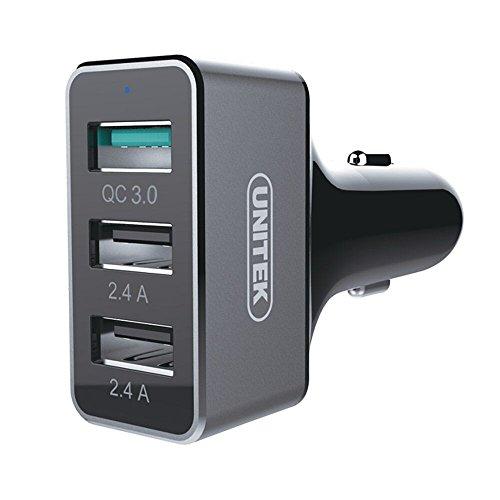 Quick Charge 3.0 Car Charger, UNITEK 42W 3 Port...