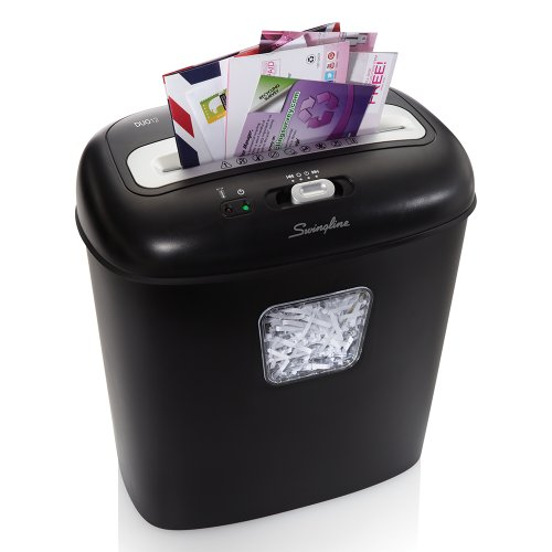 Swingline Paper Shredder, Junk Mail, 12 Sheet Capacity, Super Cross-Cut, 1 User, Personal Duo, Black (1757394)