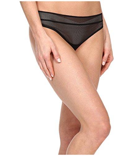 DKNY Intimates Women's Signature Thong Black Fishnet Thongs MD ()