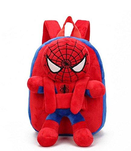 Toddler Backpack, Cute 3D Superhero Backpack for Boys, Toddler Plush Backpack for Kids 1-5 Years Old (Spiderman)