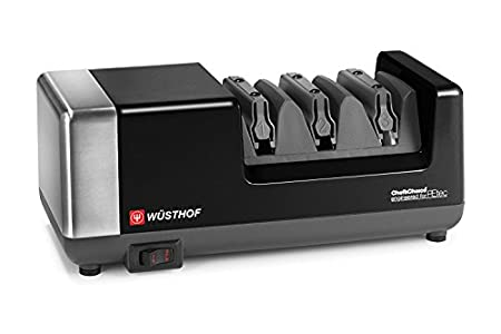 Wüsthof Wusthof  3-stage Chef's Choice PEtec Electric Knife Sharpener – Really sharp knives are a delight to use!