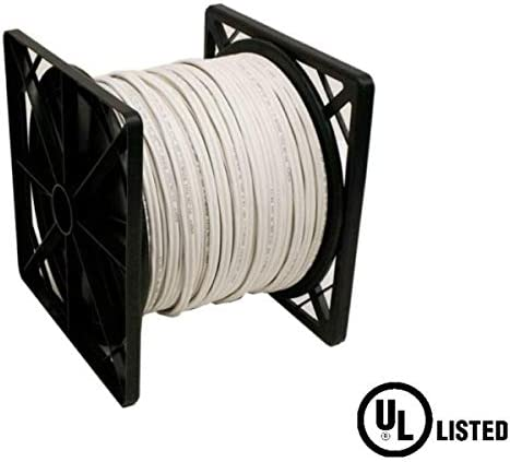 500 Foot Roll White RG59 Siamese CCTV Cable Solid Copper UL Listed with 18//2 Power
