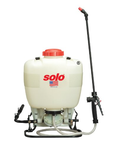 Solo 475-B Diaphragm Pump Backpack Sprayer, 4-Gallon, Bleach Resistant Pump Assembly ()