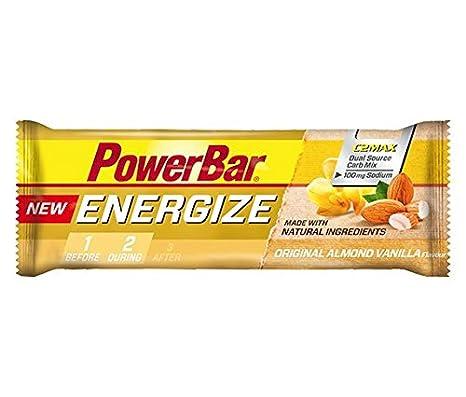 Barrita Energética New Energize PowerBar 12 x 55g Vainilla y Almendra: Amazon.es: Salud y cuidado personal