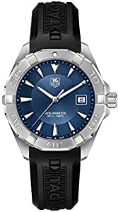 TAG Heuer Aquaracer Blue Dial Mens Watch on Black Rubber Strap WAY1112.BT0710