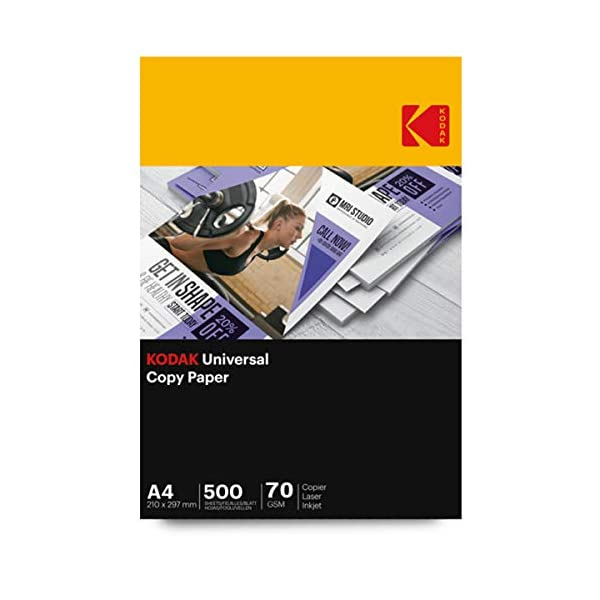 Kodak Universal Copier Paper for Laser and Inkjet printing and copying 70 GSM 1000 Sheets -Set of 2