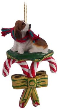30 inch Fuzzy Basset Hound LED Christmas Decoration Yard Art